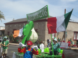 Float with Irish Flag in Tucson Arizona's Annual St. Patrick's Day Parade