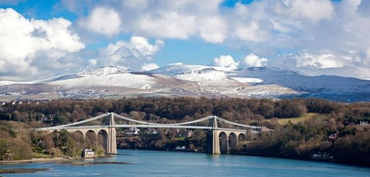 THE MENAI SUSPENSION BRIDGE.