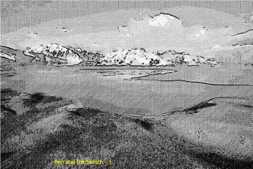 FotoSketcher pen and ink sketch rendition