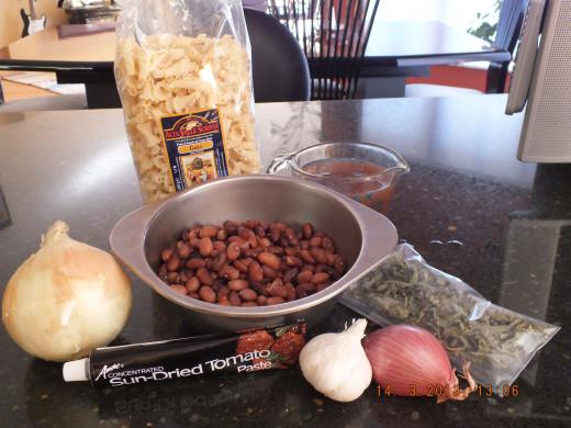 Gathering the ingredients.