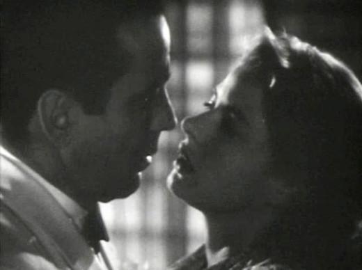 Rick (Humphrey Bogart) and Ilsa (Ingrid Bergman)