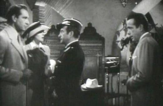Laszlo, Ilsa, the Police Captain, and Rick