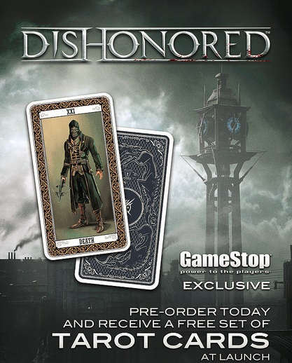 Gamestop's Dishonored pre-order poster