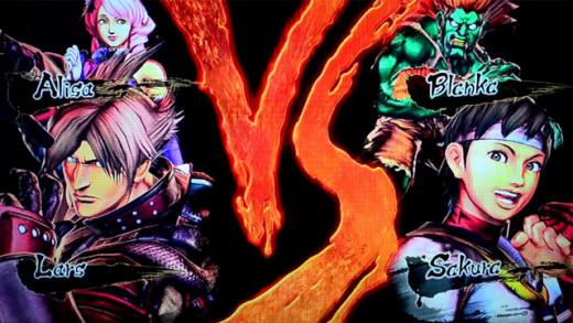 Fighting loading screen featuring Lars, Alisa, Sakura, and Blanka