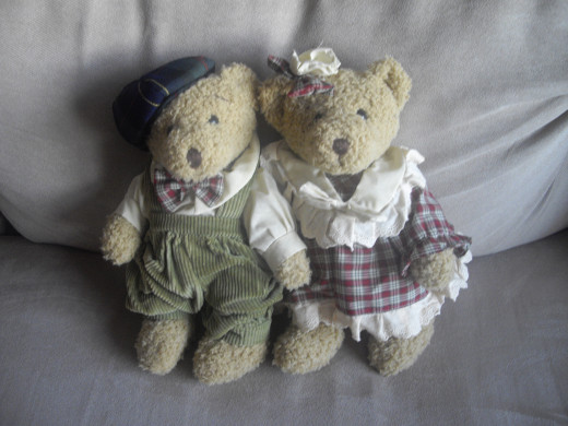 What I have left from Ellie are these bears, and many wonderful memories