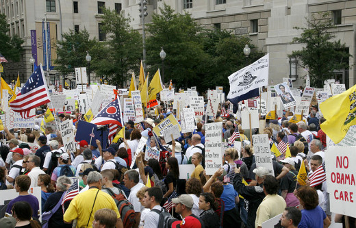 Protesters at Taxpayers March on Washington,2009