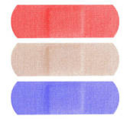 multicolored bandaids