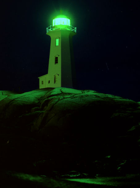 Image: Peggy's Cove Lighthouse Time Exposure