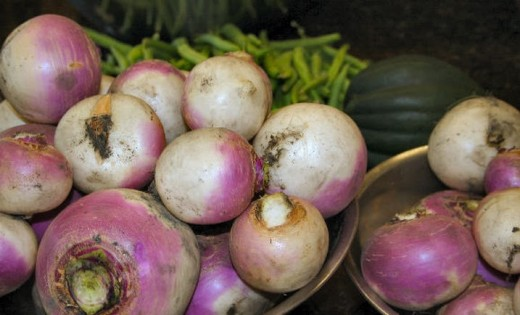 Turnips from my garden.