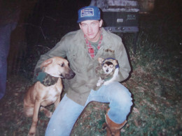 Craig with His Dog and my Petie---the Smallest