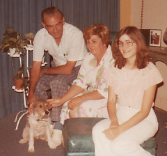 Dad, Mom, me, and Mitsie