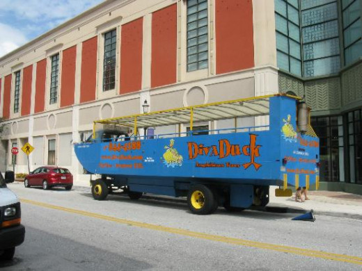 The Diva Duck Tours are an amazing way to see Downtown West Palm Beach and view landmarks from the Intracoastal Waterway in the same vehicle!