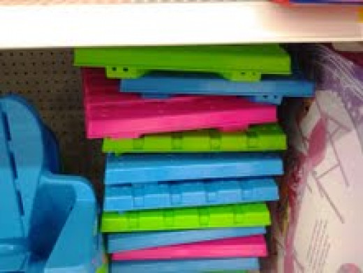 Here other choices for colors, that I took a picture of at walmarts.