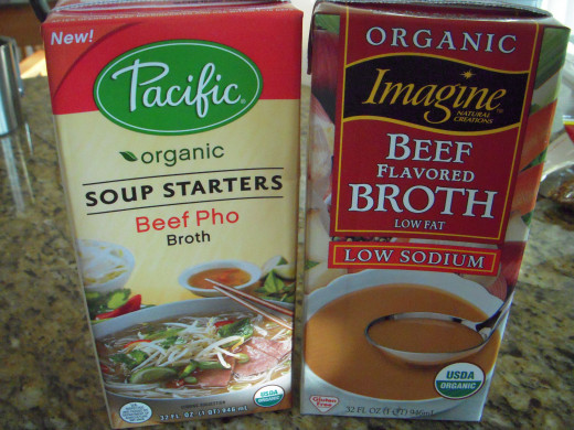 For shortcut pho, use packaged broth. Some grocery stores carry pho broth, which is a great option, though it helps to boil it with some ginger anyway.