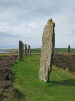 Archeological Sites of Orkney Scotland -Ring o'Brodgar