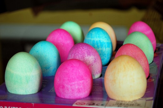 Paas Dyed Easter Eggs