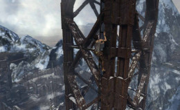 Tomb Raider Get to and Climb Radio Tower