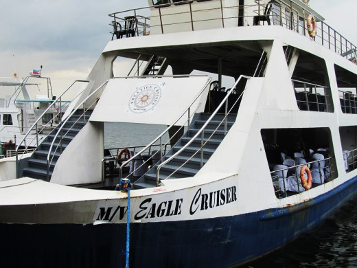 MV Eagle Cruiser of the Prestige Cruise Inc. in Manila Bay