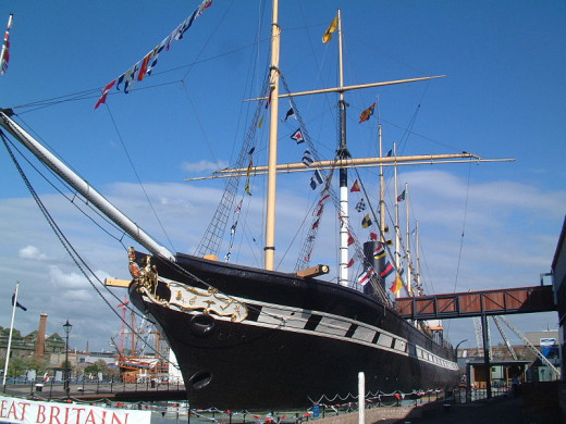 The SS Great Britain - reported to be one of the most haunted locations in the UK.