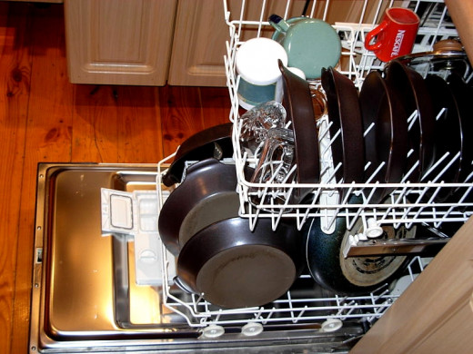 When properly stacked dishwashers are very efficient and effective.