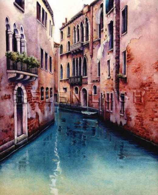"""Venice Canal"" by Helen Lush"