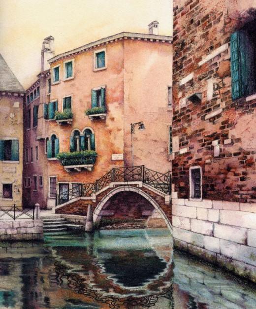 """Ponte Storto, San Polo"" by Helen Lush"