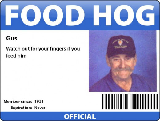 It is not easy to earn one of these Food Hog ID badges, but some days they prove their worth