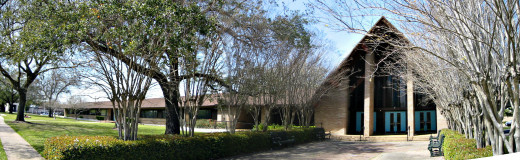 Panorama of Gethsemane Campus main buildings,  Houston, Texas