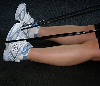 Stretching using exercise bands