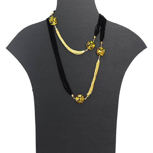 Long Venetiarum necklace with gold chains