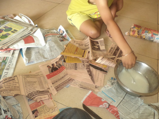 The Preparatory Work! Kids love this activity full of dealing with mess