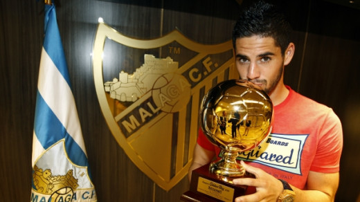 Isco with his 'Golden Boy' trophy in 2012.