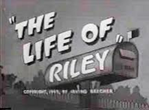 The Life of Riley was one of television's first ever sitcoms. It was a short lived sitcom but, it still had a large viewing audience.