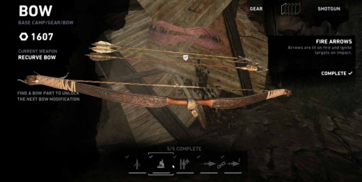 Upgrade Lara Croft's signature weapon for this generation of tomb raiders - the makeshift bow.