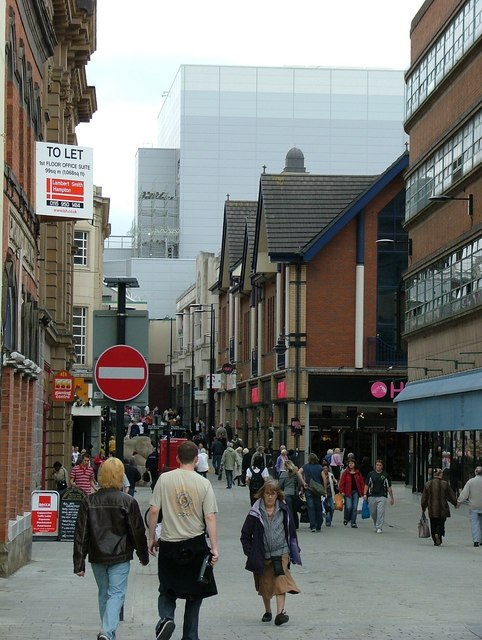 """Derby, England: example of an architectural """"monstrous carbuncle"""" in the background. Author: J147"""