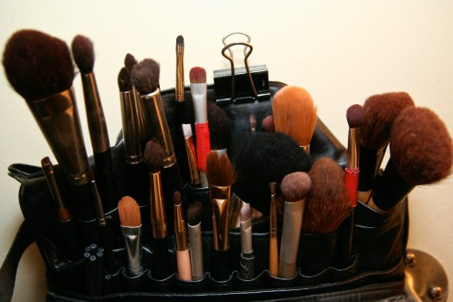 have a selection of makeup brushes to give a professional polish to your makeup application.