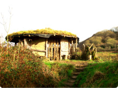 A mud hut at Cardigan Wildlife Park