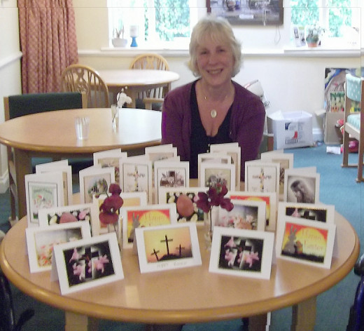 me with the cards made by my residents