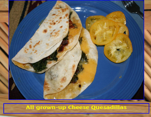 Think outside the box.  Kale quesadillas take the healthy kale with a bit of cheese to make a hugely flavorful meal.  Easy too!