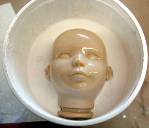 Image: Head Set in Plaster