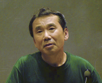 Haruki Murakami at a presentation at MIT in 2005.