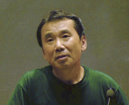 Haruki Murakami at a presentation at MIT in 2005.