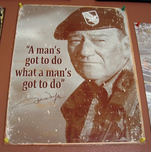 John Wayne:  The man who won WWll single-handed.
