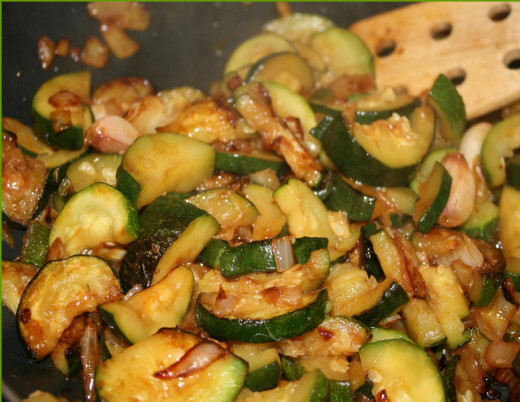 Low fat and full flavor sauted zucchini.