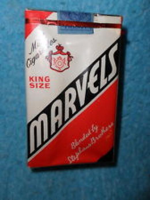 Pack of Marvel Cigarettes