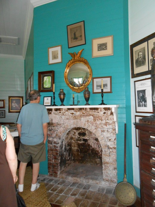 The only fireplace on Samoa at the time Robert Louis Stevenson's home was built.