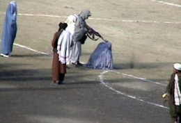 In the old days of 2000. Taliban execute a woman.
