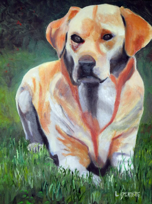 Tips on painting a dog portrait hubpages for Painting of your dog