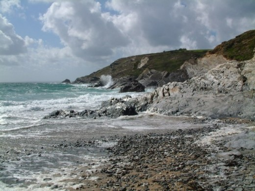 The western side of the Lizard Peninsula Cornwall - the scene of may ghost ships and legends.