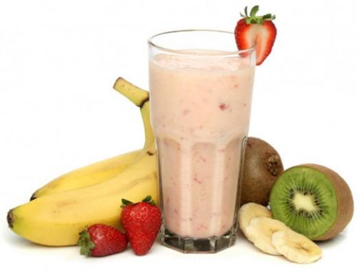 Strawberry, Banana, Kiwi Smoothie